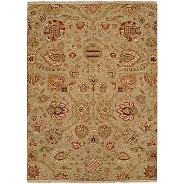 Wildon Home Farasan Hand-Woven Brown Area Rug; Rectangle 5' x 7'