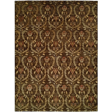 Wildon Home Corinto Hand-Knotted Brown Area Rug; 9' x 12'