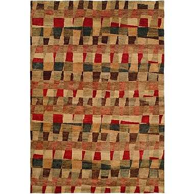 Wildon Home Manama Hand-Knotted Red/Brown Area Rug; 9' x 12'