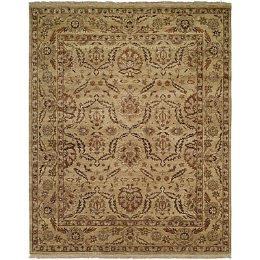 Wildon Home Vallejo Hand-Knotted Beige Area Rug; Rectangle 4' x 6'