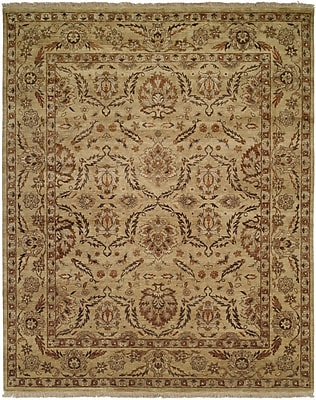 Wildon Home Vallejo Hand-Knotted Beige Area Rug; Rectangle 5' x 7'