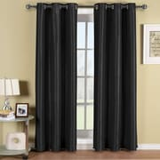 ELEGANT COMFORT Blackout Curtain Panels (Set of 2); Black