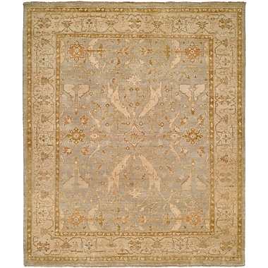 Wildon Home Williamshile Hand-Knotted Light Blue/Beige Area Rug; Square 6'