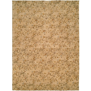 Wildon Home Salman Hand-Knotted Beige Area Rug; 2' x 3'