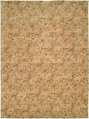 Wildon Home Salman Hand-Knotted Beige Area Rug; 10' x 14'