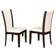 Crown Mark Camelia Side Chair (Set of 2); White