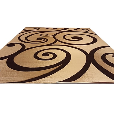Rug Tycoon Hand-Carved Beige/Brown Area Rug; 7'11'' x 9'10''