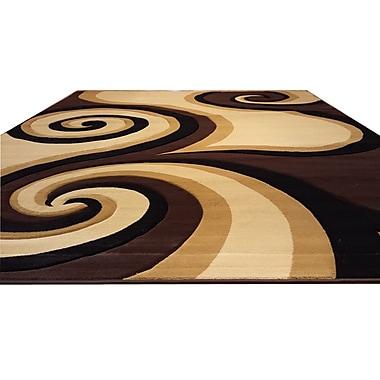 Rug Tycoon Hand-Carved Black/Brown/Beige Area Rug; 5'3'' x 7'2''