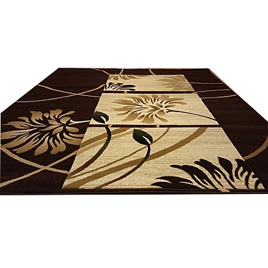 Rug Tycoon Hand-Carved Brown/Beige Area Rug; Runner 2'7'' x 14'6''