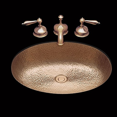 Bates & Bates Sculptured Metal Bathroom Sink; Antique Copper