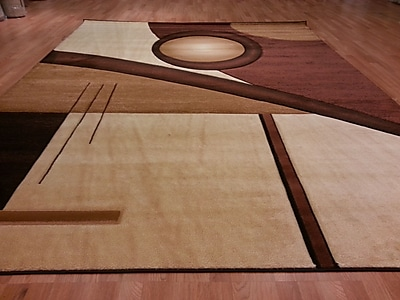 Rug Tycoon Hand-Carved Brown/Beige Area Rug; Rectangle 5'3'' x 7'2''