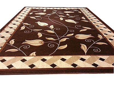 Rug Tycoon Hand-Carved Brown Area Rug; Runner 2'7'' x 9'1