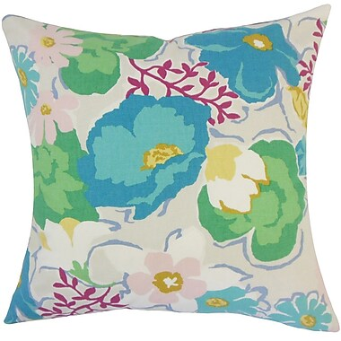 The Pillow Collection Urijah Floral Cotton Throw Pillow; 18'' H x 18'' W x 5'' D