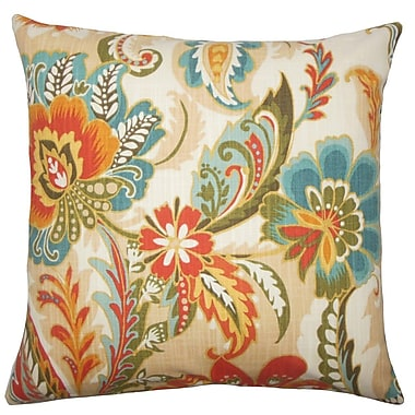 The Pillow Collection Danail Floral Cotton Throw Pillow; 20'' H x 20'' W x 5'' D