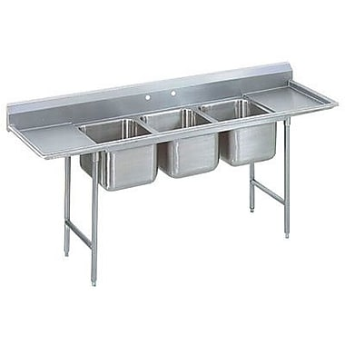 Advance Tabco T-9 Series 103'' x 35'' Triple 3 Compartment Scullery Sink