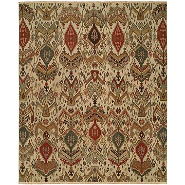 Wildon Home Shuwaikh Hand-Woven Ivory/Red Area Rug; Rectangle 4' x 6'