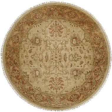 Wildon Home San Lucas Hand-Knotted Ivory Area Rug; Round 8'