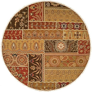 Wildon Home Sudan Hand-Woven Brown/Red Area Rug; Round 6'