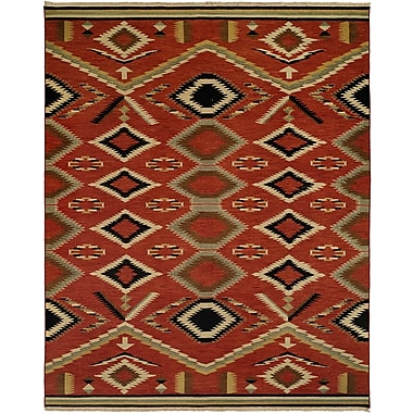 Wildon Home Coquimbo Hand-Woven Red Area Rug; 12' x 18'