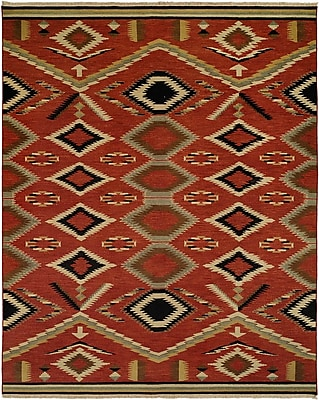 Wildon Home Coquimbo Hand-Woven Red Area Rug; Runner 2'6'' x 12'
