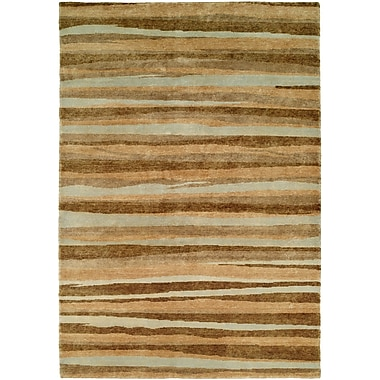 Wildon Home Panama Hand-Knotted Brown/Gray Area Rug; 11' x 16'