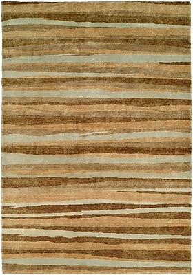 Wildon Home Panama Hand-Knotted Brown/Gray Area Rug; Runner 2'6'' x 10'