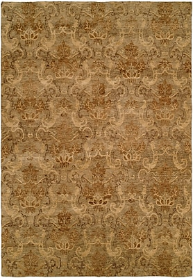 Wildon Home Seattle Hand-Knotted Beige Area Rug; Rectangle 4' x 6'
