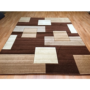 Rug Tycoon Hand-Carved Brown Area Rug; 7'11'' x 9'10''