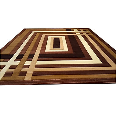 Rug Tycoon Hand-Carved Brown Area Rug; 5'3'' x 7'2''