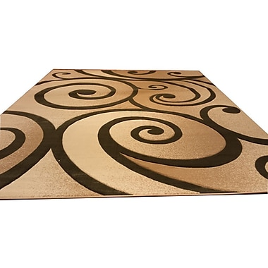 Rug Tycoon Hand-Carved Beige/Green Area Rug; 10' x 13'