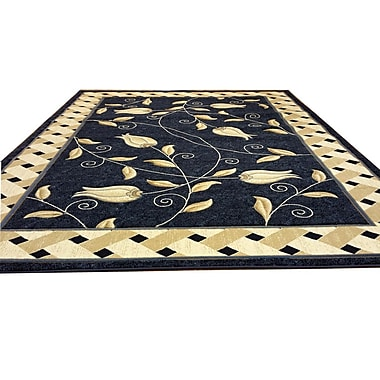Rug Tycoon Hand-Carved Blue Area Rug; 10' x 13'