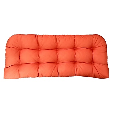 Edie Inc. Sonic Diamond Outdoor Bench Cushion; Pumpkin