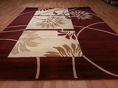 Rug Tycoon Hand-Carved Red Area Rug; Rectangle 7'11'' x 9'10''