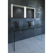 Nezza Harra Contemporary Illuminated LED Bathroom Mirror; 23.75'' H x 24'' W x 1.25'' D