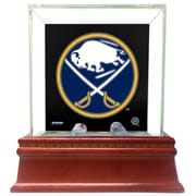 Steiner Sports Glass Single Puck Case; Buffalo Sabres