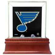 Steiner Sports Glass Single Puck Case; St. Louis Blues
