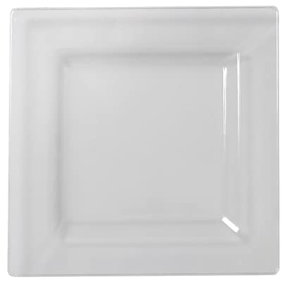 Fineline Settings, Inc Square Cocktail Plates (Set of 120); Clear