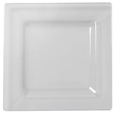 Fineline Settings, Inc Square Dinner Plates (Set of 120); Clear