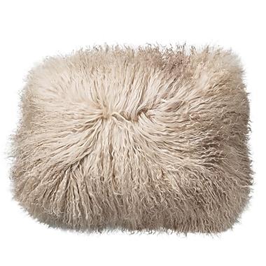 Bloomingville Tibetan Lamb Fur Throw Pillow