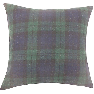 The Pillow Collection Camryn Plaid Wool Throw Pillow; 18'' H x 18'' W x 5'' D