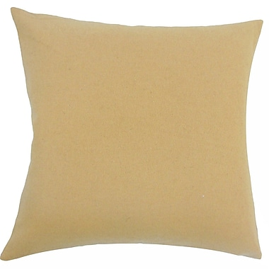 The Pillow Collection Rhory Solid Wool Throw Pillow; 20'' H x 20'' W x 5'' D