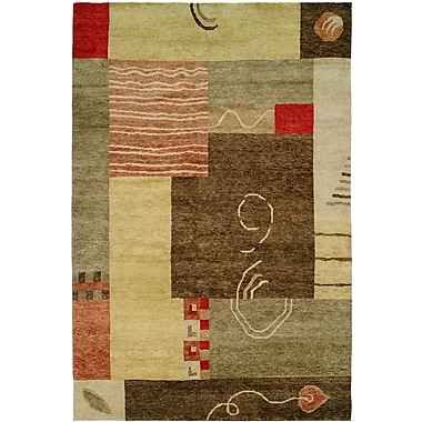 Wildon Home Lushunkou Hand-Knotted Ivory/Brown Area Rug; 10' x 14'