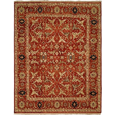 Wildon Home Hand-Knotted Rust Area Rug; 3' x 5'