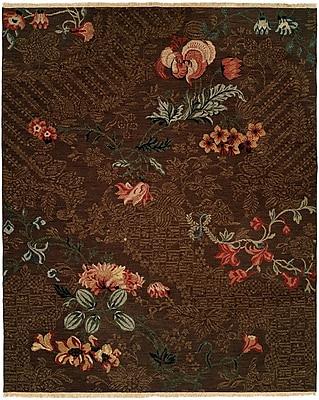 Wildon Home Tabaco Hand-Woven Brown Area Rug; Rectangle 2' x 3'