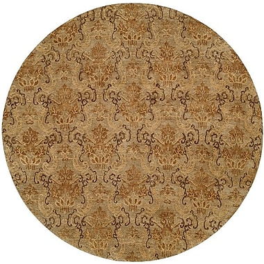 Wildon Home Seattle Hand-Knotted Beige Area Rug; Round 8'