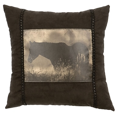 Wooded River Horse Throw Pillow