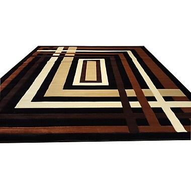 Rug Tycoon Hand-Carved Black/Brown Area Rug; 7'11'' x 9'10''