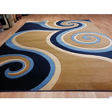 Rug Tycoon Hand-Carved Blue/Beige Area Rug; 10' x 13'
