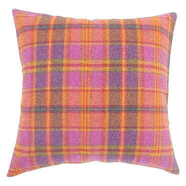 The Pillow Collection Javion Plaid Wool Throw Pillow; 20'' H x 20'' W x 5'' D