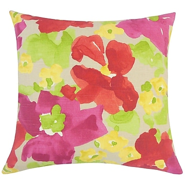 The Pillow Collection Qing Floral Cotton Throw Pillow; 20'' H x 20'' W x 5'' D